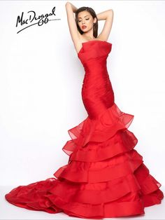 Black White Red by Mac Duggal Prom Dresses, Wedding Gowns, Formal Wear: Toms River, Brick Township, NJ: Park Avenue South Beautiful Evening Gowns, Most Beautiful Dresses, Evening Dresses, Red Wedding Dresses, Prom Dresses, Dress Prom, Ball Dresses, Wedding Gowns, Washington D C