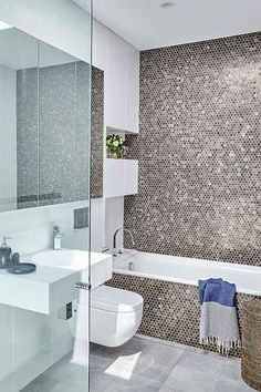 Luxe for less in the bathroom Beaumont Tiles, Claw Foot Bath, Minimalist Bathroom Design, Coloured Grout, Renovation Budget, Beacon Lighting, Feature Tiles, Bathroom Tile Designs, Splashback