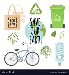 Ecology concept with eco friendly icons Royalty Free Vector Save Our Earth, Vector Free, Eco Friendly, Illustration Art, Environment, Photos, Concept, Physical Science, Science Education