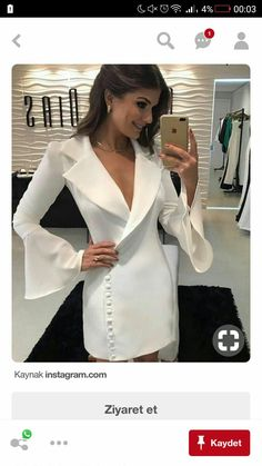 Pinned onto 2018 winter outfits Board in 2018 winter outfits Category White Outfits, Classy Outfits, Dress Skirt, Dress Up, Evening Dresses, Summer Dresses, Tuxedo Dress, White Fashion, Ideias Fashion