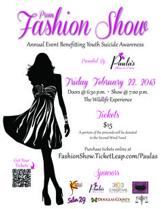 First fashion show Flyer | Tech for Fash projects | Pinterest ...