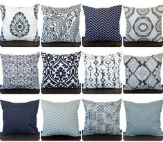 etsy decorative throw pillows gray blue - Google Search