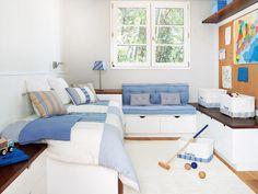En madera y azul - El refugio de tus hijos - Habitacion infantil - Decoracion interiores - Interiores, Ambientes, Baños, Cocinas, Dormitorios y habitaciones - CASADIEZ.ES