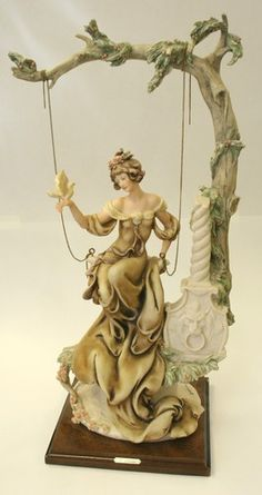 Giuseppe Armani Florence Lady on Swing Large Figurine 1985 | eBay