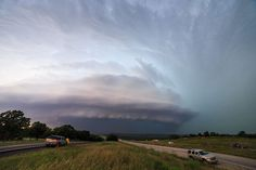 A huge mothership supercell on May 26, 2015, in Gordon, Texas. Photo by Marko Korosec