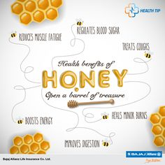 Honey is a treasure chest of nutrition & medical benefits. #HealthTips