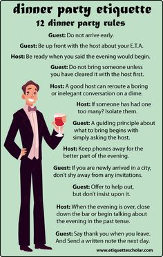 12 Dinner Party Etiquette Rules - Great dinner party etiquette advice for hosts and guests! Dinning Etiquette, Table Setting Etiquette, Etiquette Dinner, Table Settings, Setting Table, Table Manners, Good Manners, Just In Case, Just For You