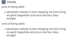 Adult life, truth, sadness