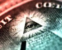 The 'All Seeing Eye', alleged masonic symbol on the US dollar bill.