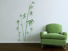 Asian Style Bamboo Elegance Quality Vinyl Matte Wall Decal Sticker. 24 colour options