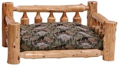 Log Dog Bed ~ Rustic Dog Beds ~ Hand Peeled White Cedar Log Beds