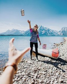 """""""Hey @Kyehalpin, toss me a beer! #thisbudsforyou  I've partnered with @Budweiser this month to share a few photos I've taken featuring their America cans, hope you guys like them!"""""""