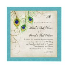 Peacock Invitation