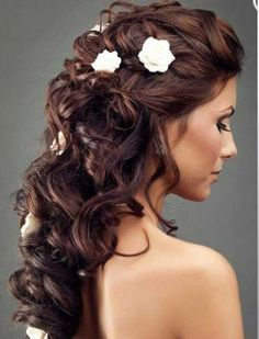 Hair style for wedding.