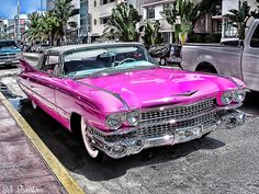 Pink Cadillac - Collins Ave - Miami by Vivid~David, via Flickr