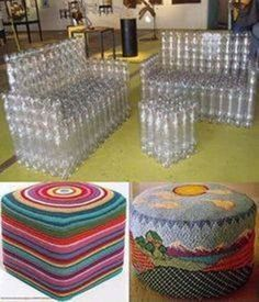 Looking for a really fun recycling DIY project! Recycling at its Finest: How to Build a Magnificent Milk Jug Igloo, Creative and easy project to entertain kids. Reuse Plastic Bottles, Plastic Bottle Crafts, Diy Bottle, Recycled Bottles, Diy Home Crafts, Diy Crafts To Sell, Unicorn Wall Art, Recycled Crafts, Recycled Materials