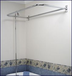 This D Shaped Shower Rod Is Part Of A Complete Add On Set For