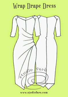 Pattern Puzzle - The Wrap Drape Dress - well-suited
