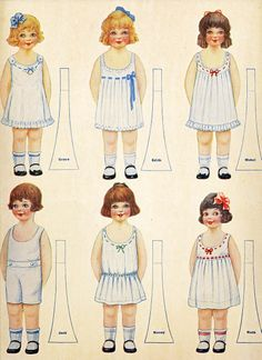 My Book Of Darling Dollies Paper Dolls Vintage 1920 Uncut from barbgrrlzdolls on Ruby Lane Paper Dolls Clothing, Doll Clothes, Vintage Paper Dolls, Vintage Toys, Paper Toys, Paper Crafts, Paper People, Paper Dolls Printable, Free Paper