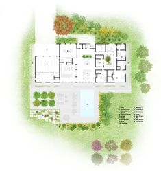 Image 15 of 19 from gallery of Meadow House / Office Mian Ye. Ground Floor Plan