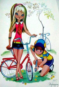 Vintage Postcard romantic couple
