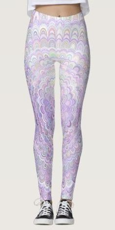 Shop Light Purple Metal Flower Mandala Leggings created by ZyddArt. Bohemian Design, Flower Mandala, Metal Flowers, Printed Leggings, Light Purple, Leggings Fashion, Abstract Pattern, Dressmaking, Things That Bounce