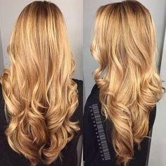 Golden Honey Blonde Hair