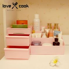 Free Shipping Princess Desktop Storage Box Drawer storage cabinet multi-colored small objects jewelry box organizer