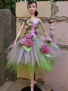 "OOAK ""Summer Fairy"" from Cinderella model muse Barbie tutu"