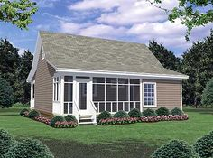 Small modular cottages cottage w log siding cottage w for Prefab in law cottages