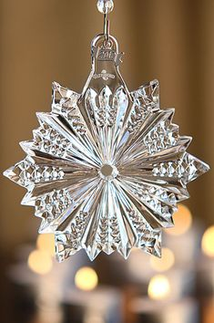 Waterford 2012 Snow Crystal Pierced Ornament