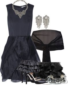 """""""Ruffle Up Your Outfit and Add DANNIJO Jewelry"""" by brendariley-1 on Polyvore"""