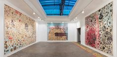 "An Artist's Mythic Rebellion for the Venice Biennale - The ""fourth gallery"" in the replica features paintings created by sanding layers of paper. Credit Joshua White"