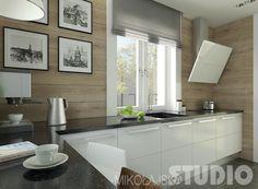 Salon w stylu skandynawskim Kitchen Dinning Room, Kitchen Colour Schemes, Color Schemes, Home Kitchens, Kitchen Island, House Design, Modern, Furniture, Inspiration