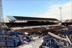 Ninian Park, Cardiff City during demolition