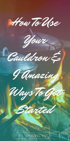 How To Use Your Cauldron & 9 Amazing Ways To Get Started // Witchcraft // Magic // The Traveling Witch by rhoda Moon Spells, Travel Crafts, Witches Cauldron, Wiccan Crafts, Wicca Witchcraft, Green Witchcraft, Eclectic Witch, Protection Spells, Yoruba