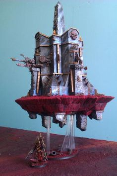 Latajca forteca Silver Tower of Tzeentch Model.
