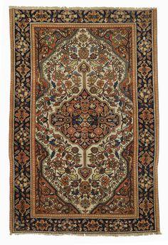 Example of a fine hand woven rug Circa'1880