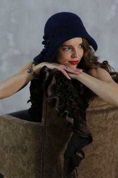 Купить Валяная шляпка «На выходные в Париж» - ретро, валяная шляпка, Париж, ретро стиль