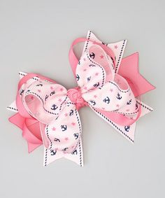 Take a look at this Pink Anchors Bow Clip by Bubbly Bows on #zulily today!