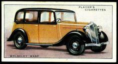 "Cigarette Card - Wolseley ""Wasp"" 1936"