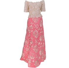 1stdibs | Arnold Scaasi Guipure lace and embroidered silk evening gown