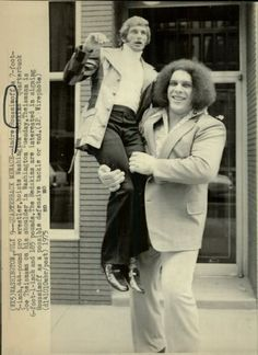1975 Joe Theismann and Andre the Giant.