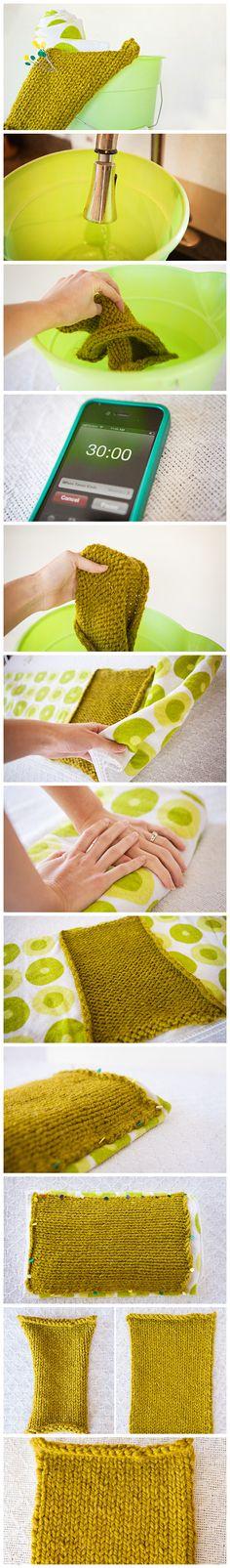 How to block a knitting project via craft.tutsplus.com. #FreeTutorial #Knitting #Blocking