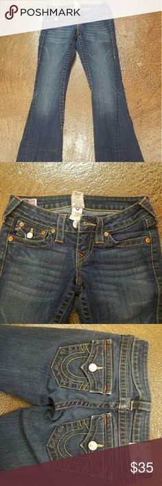 True Religion True Religion women's jeans they have an inseam of 30 stitching is nice and neat the points all add up because you're perfect is there a really nice pair of True Religions True Religion Jeans Flare & Wide Leg