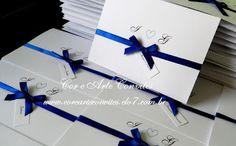 Cor e Arte Convites e Lembranças: Convite Casamento Azul Royal