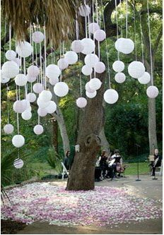 hanging ballons, put a marble inside before you blow it up @Patricia Smith Fisher wouldn't this be pretty for the wedding?