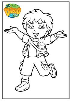 9 best Top Go Diego Go Coloring Pages images on Pinterest | Coloring ...