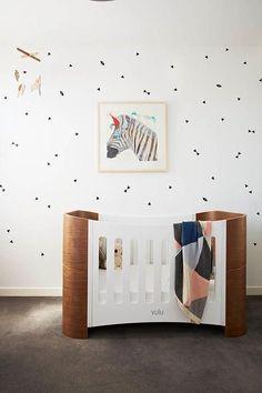 Cute nursery interior #nursey mid century modern furniture #babyroom baby room #softcolors soft colors www.circu.net