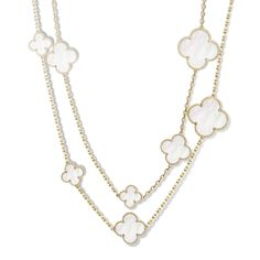 Magic Alhambra long necklace, from Van Cleef & Arpels. Only $22,100! ; )